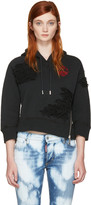 DSQUARED2 Black Cropped keep The Faith Hoodie