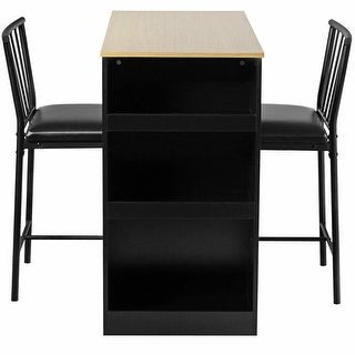 Overstock 3 Piece Counter Height Pub Dining Set-Natural - Natural