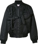 Walter Van Beirendonck chain detail bomber jacket
