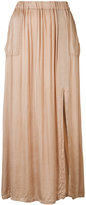 Raquel Allegra patch pocket maxi skirt - women - Cotton/Viscose - 0