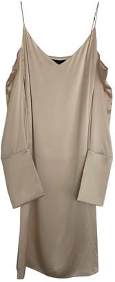 Michael Lo Sordo Beige Silk Dresses