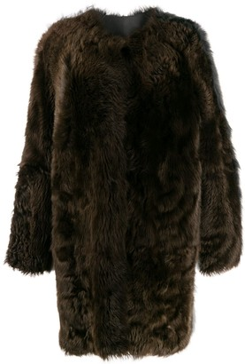 Sofie D'hoore Two-Tone Faux-Fur Coat