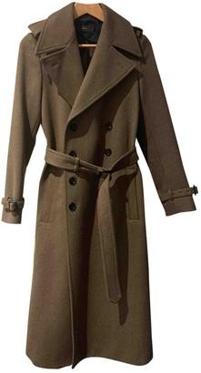 Joseph Khaki Wool Coat for Women