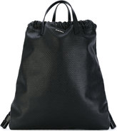 Diesel handle applique backpack - women - Calf Leather/Polyester - One Size