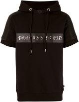 Philipp Plein logo hoodie - men - Cotton/Polyester/Polyurethane/metal - L