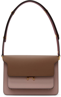 Marni Pink and Brown Medium Trunk Bag