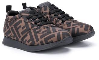 Fendi Kids FF-pattern low-top sneakers