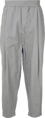 Emporio Armani Tapered Cotton Trousers