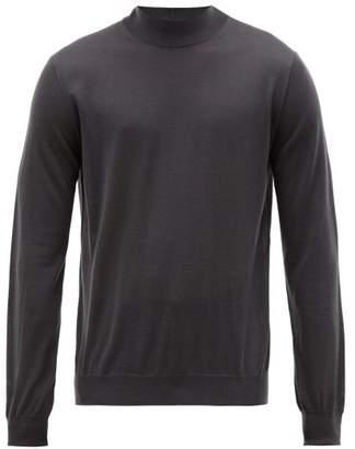 Giorgio Armani Fine Cashmere Jersey Roll Neck Sweater - Mens - Grey