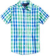 Tommy Hilfiger Cruz Check-Print Shirt, Big Boys (8-20)