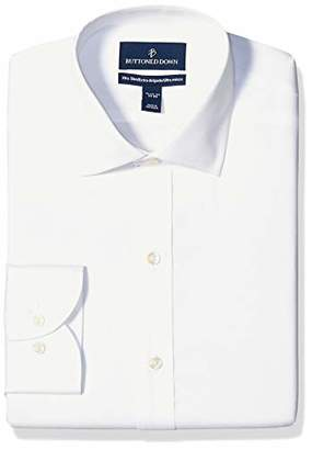 Buttoned Down Xtra-slim Fit Solid Non-iron Dress Shirt