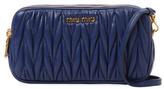 Miu Miu Small Matelassé Leather Crossbody