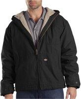 Dickies Men's Sanded Duck Sherpa Lined Hooded Jacket