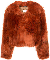 Maison Margiela faux fur cropped jacket