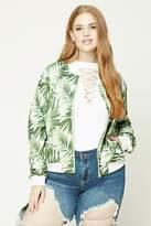 Forever 21 Plus Size Foliage Bomber Jacket