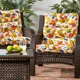 Esprit 3-section Contemporary Outdoor High Back Chair Cushion (Set of 2)