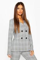 boohoo flannel Tailored Blazer