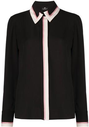 Elisabetta Franchi Long-Sleeved Contrast Trim Shirt