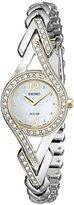 Seiko Women's SUP174 Swarovski Crystal-Accented Two-Tone Solar Watch