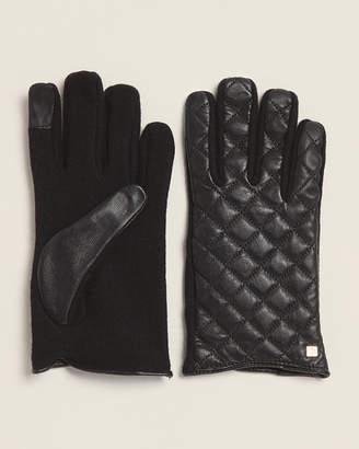 Ralph Lauren Black Hybrid Sheep Leather Back Gloves