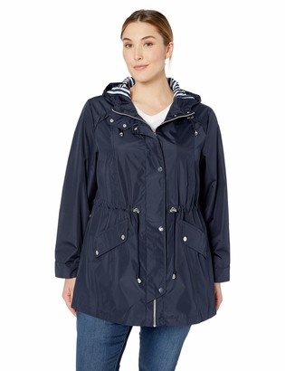 Details Women's Plus Size Zip Front Hooded Anorak