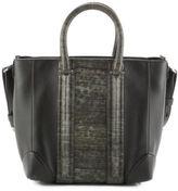 Givenchy Olive Green Embossed Lizard Trim Lucrezia Tote Handbag EVHB