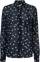 Ganni Polka Dot Georgette Blouse