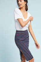 d.RA Striped Knit Pencil Skirt