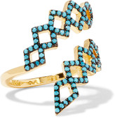 Noir Mineral Springs gold-plated turquoise ring
