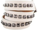 Barbara Bui Leather Studded Wrap Bracelet