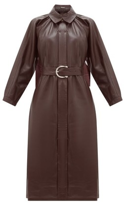 Dodo Bar Or Berry Belted Leather Dress - Dark Red