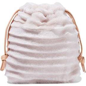 Clare Vivier Leather-trimmed Shearling Pouch