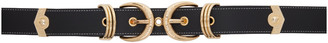 Versace Jeans Couture Black Double Buckle Belt