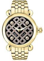 Glam Rock Women's Vintage Diamond 40mm Gold Plated Bracelet & Case Swiss Quartz Analog Watch GR28038-BR