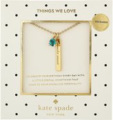 Kate Spade December Ble Pendant Necklace