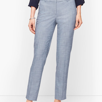Talbots Hampshire Ankle Pants - Sharkskin