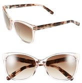 Bobbi Brown Women's 'The Rose' 56Mm Sunglasses - Blond Havana