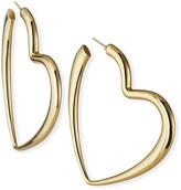 Lana 14k Graduated Heart Hoop Earrings