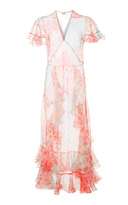 Jill Stuart Olivia Silk Organza Midi Dress