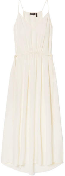 Theory Silk-georgette Maxi Dress - Ivory