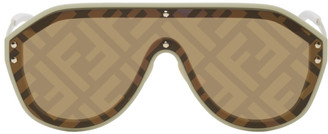 Fendi Beige Forever Shield Sunglasses