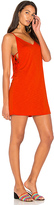 Lanston Side Tie Dress in Orange. - size L (also in M,S,XS)