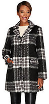 Isaac Mizrahi Live! Plaid Brushed Camel Hair Coat