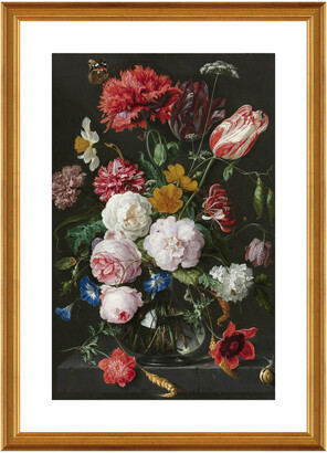 McGaw Graphics Abraham Mignon, Still Life With Flowers In A Glass Vase Framed Artwork By Dutch Florals