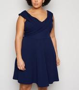 New Look Mela Curves Bardot Skater Dress