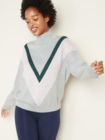 Old Navy Color-Blocked Chevron Turtleneck Sweater for Women