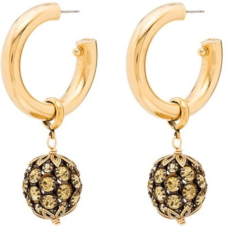 Brinker & Eliza Charade gold-tone crystal earrings