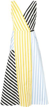 Anna October Striped Patchwork Dress