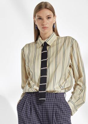 Ralph Lauren Alyssa Striped Silk Shirt