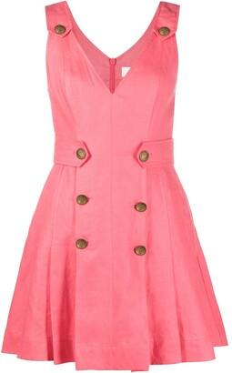 Zimmermann The Lovestruck buttoned mini dress